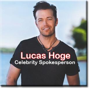 Lucas Hoge celebrity spokespoerson.
