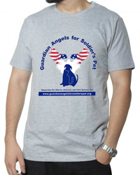 Guardian Angels for Soldier's pet official t-shirt.